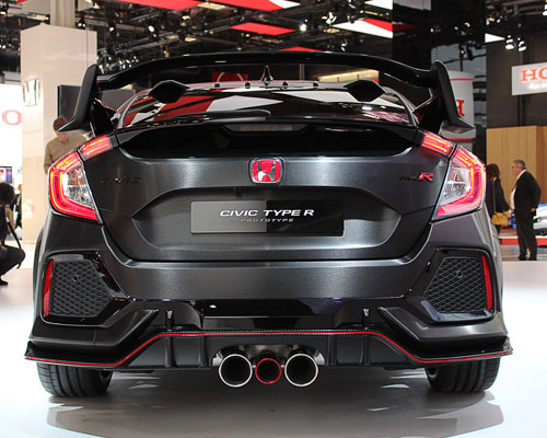 2018 Honda Civic Type R-back
